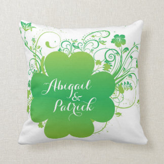 Personalized Irish Shamrock Accent Pillow Cushions