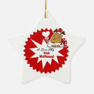 Personalized Irish Wolfhound Keepsake Ornament