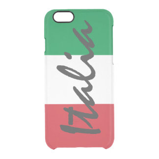 Personalized Italia Flag Clear iPhone 6/6S Case