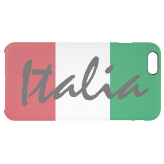 Personalized Italia Flag Uncommon Clearly™ Deflector iPhone 6 Plus Case