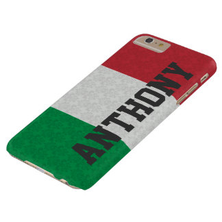 Personalized Italian Flag Damask Pattern Barely There iPhone 6 Plus Case