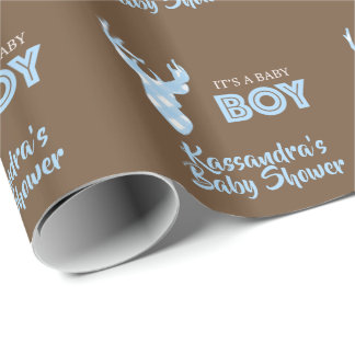 Personalized It's A Boy Deer Wrapping Paper