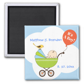 Personalized It's a Boy in Skyblue Magnet