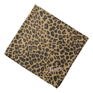 Personalized Jaguar Print Bandana