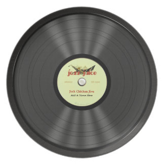 Personalized Jazz Vinyl Record Plate