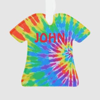 Personalized John Tie Dye Spiral Rainbow