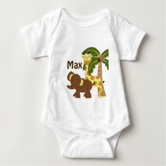 Personalized Jungle Baby Animals Shirt