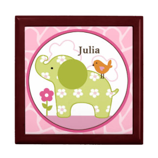 Personalized Jungle Jill/Girl Animals Keepsake Box