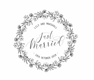 dd234e278b6 Personalized Just Married Floral