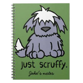 Personalized Just Scruffy Cartoon Dog Notebook