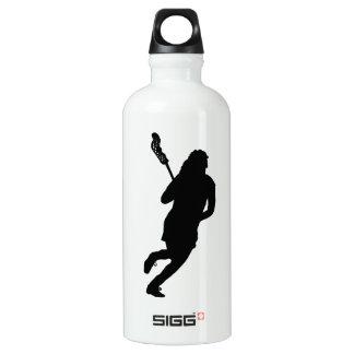 Personalized Justine Lacrosse Female Water Bottle