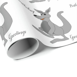 Personalized Kangaroo Design Wrapping Paper