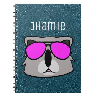 Personalized Kasual Koala BG Spiral Notebook