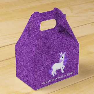 Personalized Kawaii Cute Purple Unicorn Cartoon Favour Box