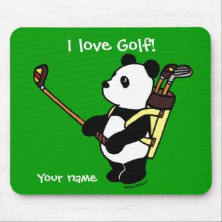 Personalized Kawaii Panda Golfer Mouse Pads