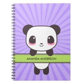 Personalized Kawaii Panda Notebook/Journal Spiral Note Books