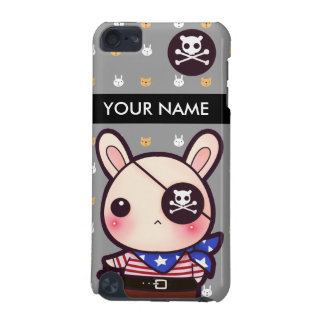 Personalized kawaii pirate bunny iPod touch (5th generation) cases