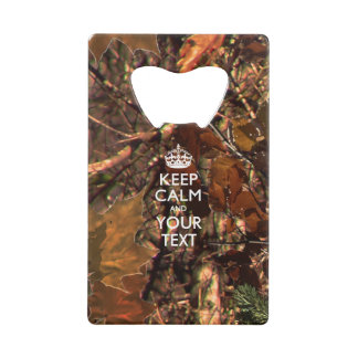 Personalized KEEP CALM AND Edit Text Hunter's Camo