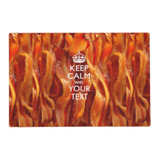 Personalized KEEP CALM AND Your Creative Text Laminated Place Mat