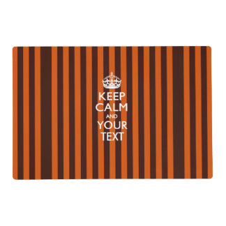 Personalized KEEP CALM AND Your Creative Text Laminated Placemat