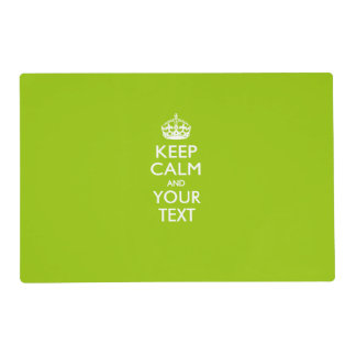 Personalized KEEP CALM AND Your Creative Text Placemat