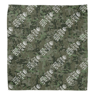 Personalized KEEP CALM AND Your Text Digital Camo Bandana