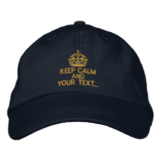 Personalized KEEP CALM AND Your Text Original Embroidered Cap