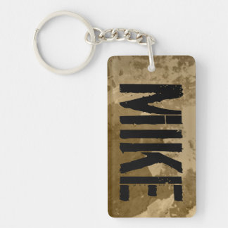 Personalized keychain with name | Distressed look