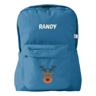 Personalized kids backpack with cute reindeer logo