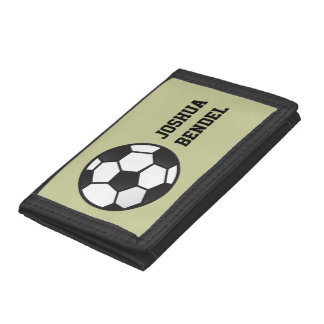 Personalized Kids Boys Soccer Wallet