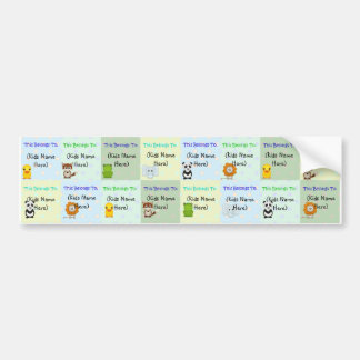 Personalized Kids Labels, Waterproof Baby Stickers Car Bumper Sticker