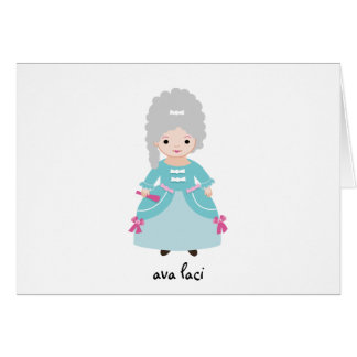 Personalized Kids Note Card-Marie Antoinette Card