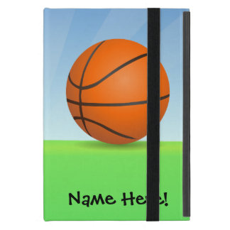 Personalized Kid's Sports Basketball Sunny Day iPad Mini Cover