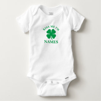 Personalized Kiss Me St. Patrick's Day Baby Onesie
