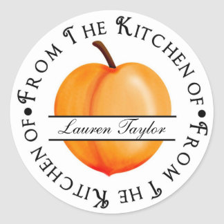 Personalized Kitchen Baking Stickers- Peach
