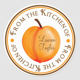 Personalized Kitchen Baking Stickers- Peaches