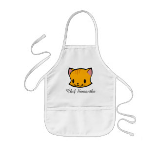 Personalized Kitty Cat Apron for Kids