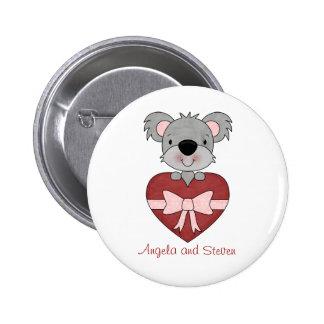 Personalized Koala Love Button