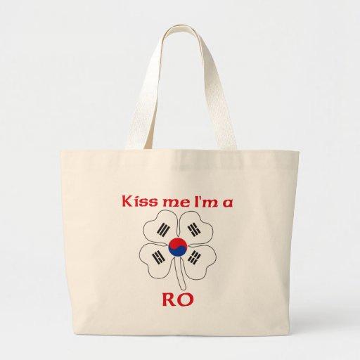 Personalized Korean Kiss Me I'm Ro Tote Bags