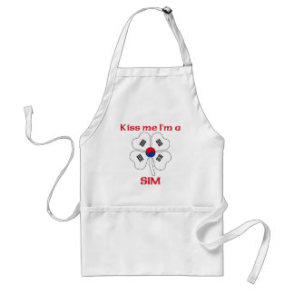 Personalized Korean Kiss Me I'm Sim Adult Apron