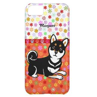 Personalized Kuro Shiba Inu dog cartoon iPhone 5C Case