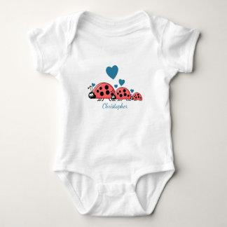 Personalized ladybirds baby bodysuit