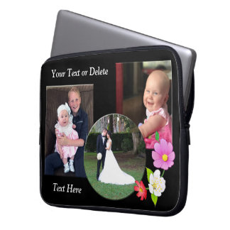 Personalized Laptop Cases,  Your PHOTOS and TEXT Laptop Sleeve