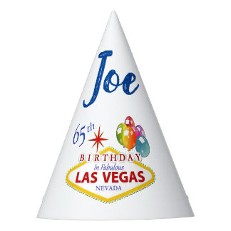 Personalized Las Vegas 65th Birthday Party Hat