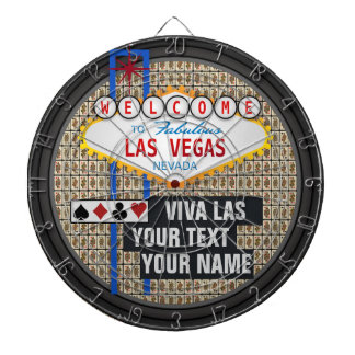 Personalized Las Vegas Dartboard