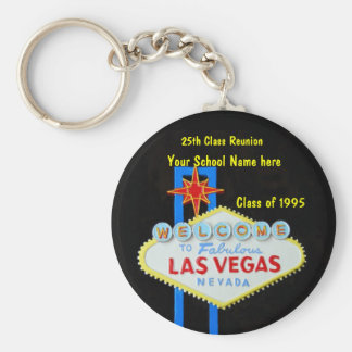 Personalized Las Vegas Sign Party Favor Key Ring
