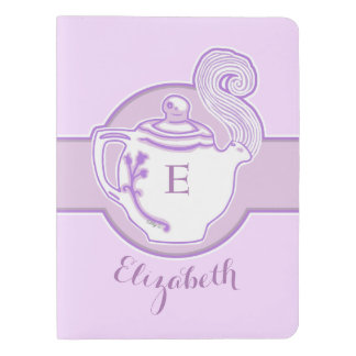 Personalized Lavender Teapot Moleskine Notebook