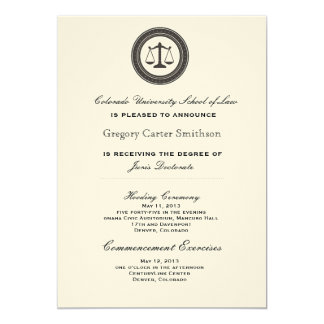 Personalized Law School Graduation Announcements