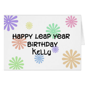 Personalized Leap Year Birthday Card