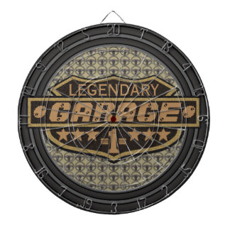 Personalized Legendary Garage Dartboard With Darts
